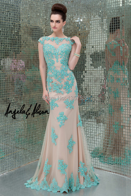 Hot Sale 2014 Elegant Prom Dress for Rent Cut Out Back Beading ...