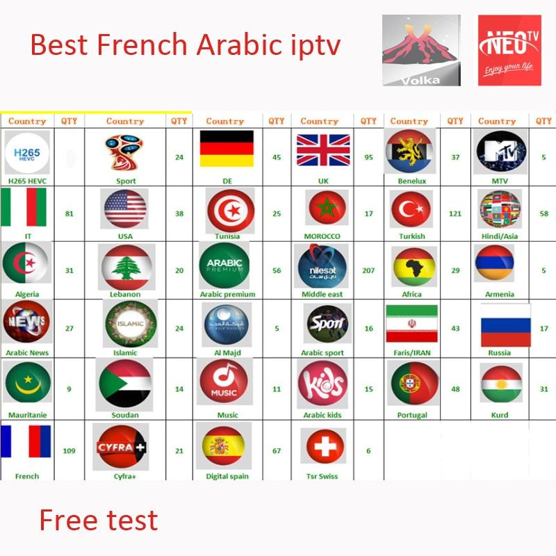 Iptv Abonnement arabisch französisch Italienisch Android tv box M8s Xtream stalker M3u Mag250 tunesien canadia USA