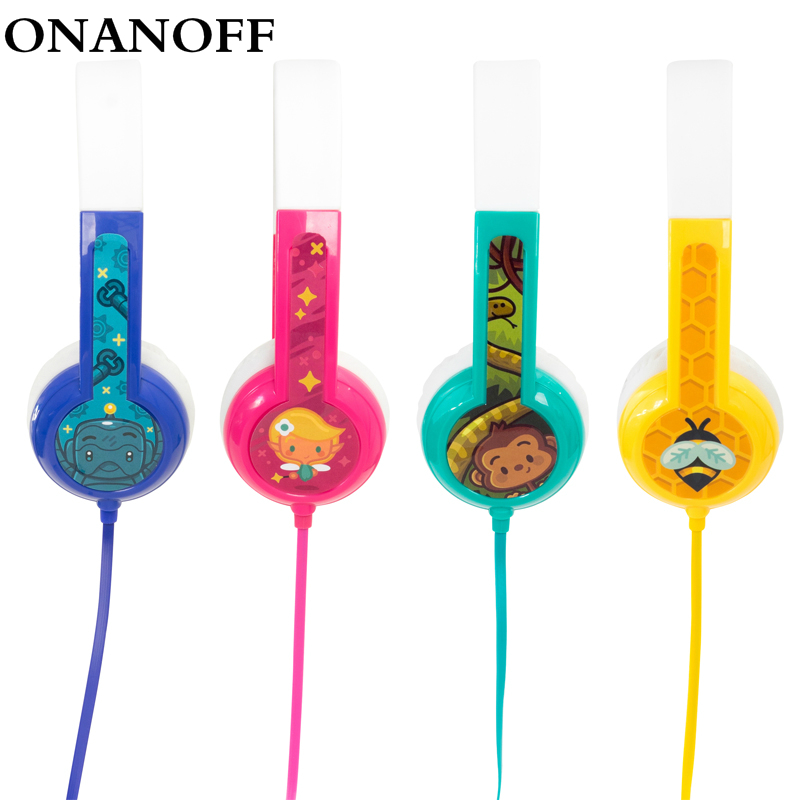 ONANOFF Standard Buddyphones Kids Professional Safe Listening Headphones With Sharing Cable Cute Children Mini Over ear Headset onanoff buddyphones explore professional children kids headsets safety volume limiting headphones with mic listening earphones
