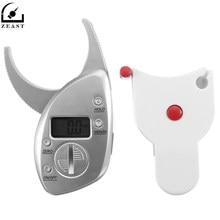 On sale Body Fat Caliper LCD Digital 0-50mm/0-2″ + Skin Fold Analyzer Tape Tester Thickness Measurement Tool