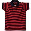 De Algodón A Rayas Camisa de Polo Da Vuelta-Abajo Informal Camisa de Polo de Manga Corta Masculino Rojo Verde Gris Tamaño Asiático M-5XL A1589