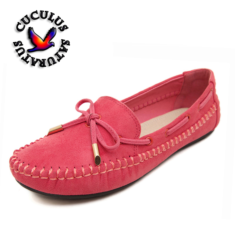 Cuculus Womens Flats Casual Bowtie Loafers Sweet Candy Colors Flats Solid autumn Shoes Woman Female Footwear Plus Size 44 B008 hollow out breathable women sandals bowtie loafers sweet candy colors women flats solid summer style shoes woman st6 29