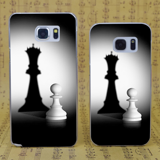 DREAM FOX B2953 Pion Chess Style Transparent Hard PC Case Cover For Samsung Galaxy S 4