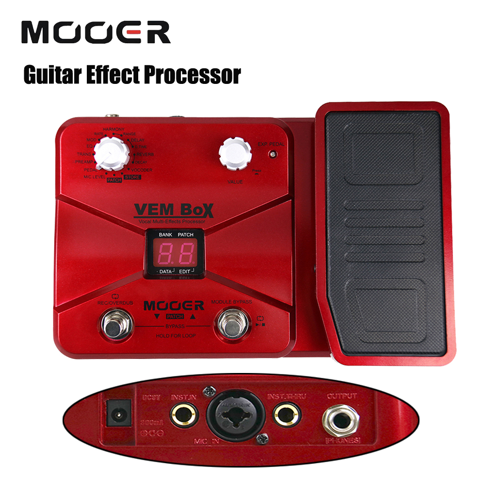 Mooer VEM Box 8 Effect Modules Including 54 Types Portable Vocal Multi Guitar Processor Effects Pedal Supports Loop Vocoder wavelets processor