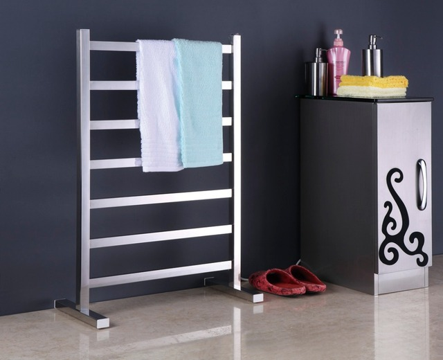 Free Standing Towel Warmer Electric Heated Towel Rail Stainless