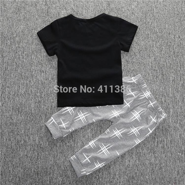 ST189 2017 Nowa dziewczyna przyjazdu i chłopców ubrania ustawić długi rękaw + Spodnie sowa wzór zestaw noworodka ubrania dla dzieci garnitur dzieci odzież 76