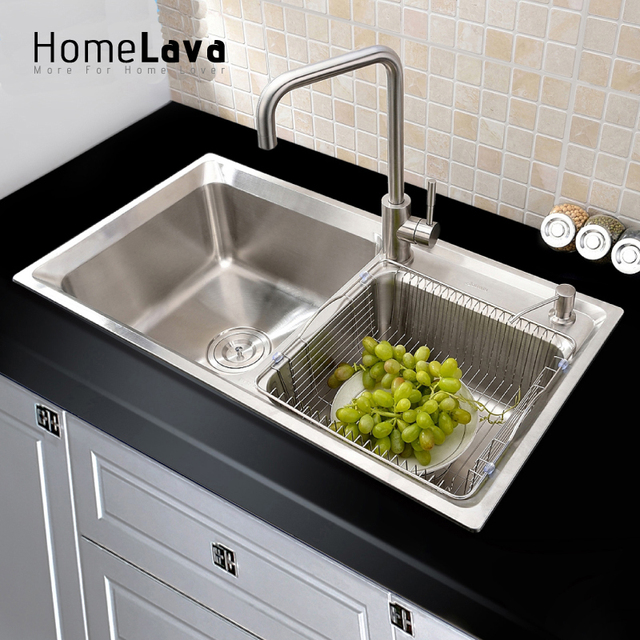 Medium image of 304  stainless steel kitchen sink faucet kitchen accessories 81 43 23cm   83x45x23cm