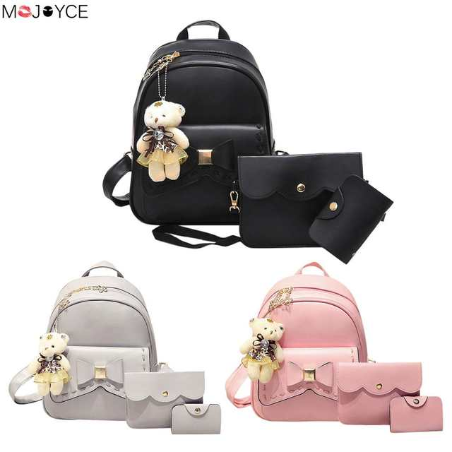 placeholder Small Women Backpacks female School Bags For Teenage Girls  Black PU Leather Women Backpack Shoulder Bag 4ae1be4047
