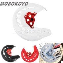 цена на For Honda CR CRF 125R 250R 250X 450R 450X Motocross MX Enduro Dirt Bike X-Brake Front Disc Cover Rotor Guard 2004-2018
