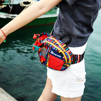 Men women casual polyester belt bag travel tear resistant fanny pack Multi function large capacity water bottle waist bag S729