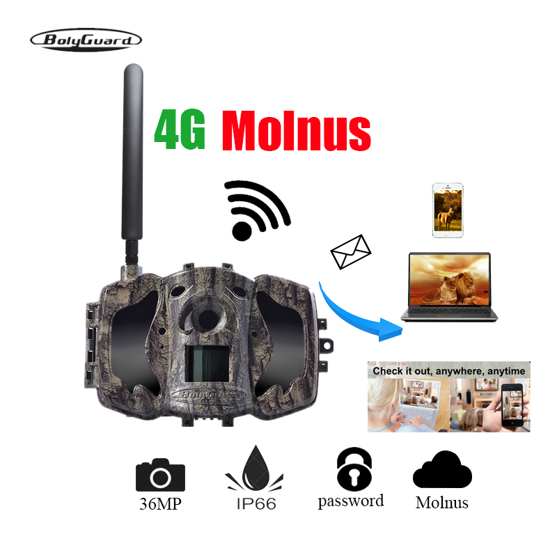 hunting camera 4G 36M 1080PHD wildlife camera 100ft phototrap mms ems waterproof wireless camera thermal imager
