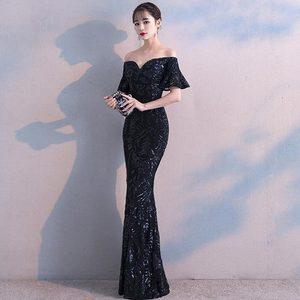 Image 5 - FADISTEE חדש הגעה אלגנטי המפלגה שמלות שמלת ערב Vestido דה Festa יוקרה שחור פאייטים קצר שרוולים נשף תחרה סגנון