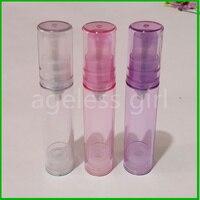 50/100 pcs/lot 10ml spray bottle portable refillable bottles perfume atomizer bottles spray scent pump case empty