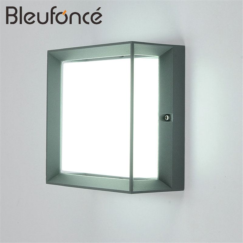Outdoor Waterproof LED Wall Lamp Lighting 20W LED Wall Sconce Garden lights Modern simple Aluminum Square Outdoor Wall Lamp BL13 outdoor waterproof aluminum wall lamp 3w led wall light wall sconce garden light modern simple lighting outdoor wall lamps bl33