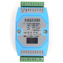 6 דרך OLED PT100 PT1000 CU50 CU100 NI1000 טמפרטורת מודול רכישת טמפרטורת משדר MODBUS RTU