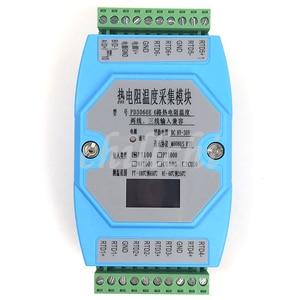 Image 1 - 6 דרך OLED PT100 PT1000 CU50 CU100 NI1000 טמפרטורת מודול רכישת טמפרטורת משדר MODBUS RTU