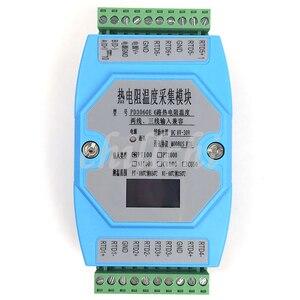 Image 1 - 6 웨이 oled pt100 pt1000 cu50 cu100 ni1000 온도 수집 모듈 온도 트랜스미터 modbus rtu
