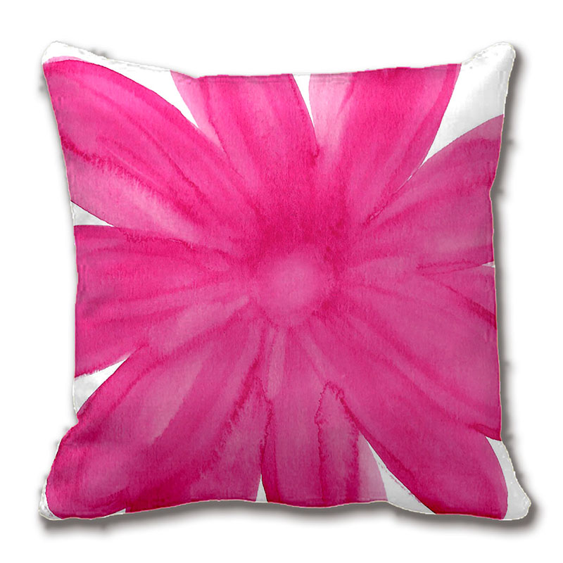 Hot Pink Watercolor Flower Throw Pillow Case Decorative Cushion Cover Pillowcase Customize Gift By Lvsure For Car Sofa Seat