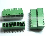 12 Pcs Screw Terminal Block Connector 3 5mm Angle 8 Pin Way Green Pluggable Type