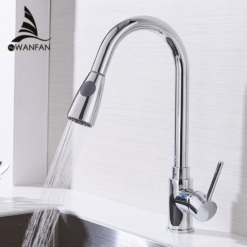 Kitchen Faucets Silver Single…