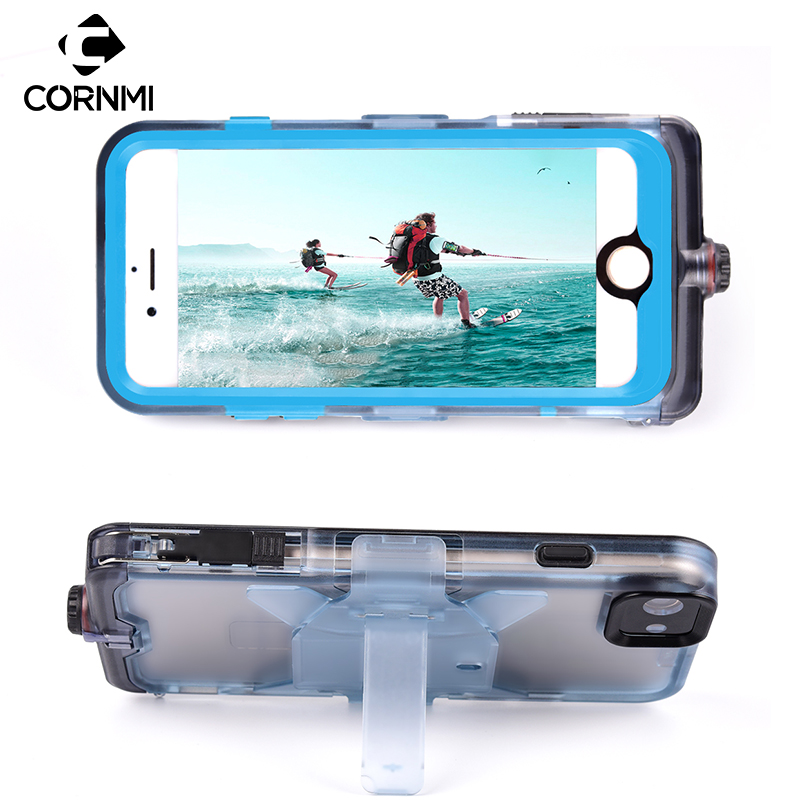 CORNMI Waterproof Phone Case For iPhone 7 4 7inch Full Coverage Protective Cover Stand Holder PC