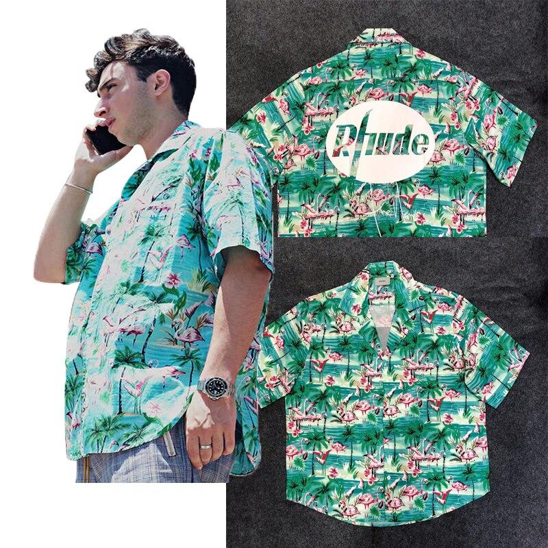 T-Shirt Flamingos mint green *