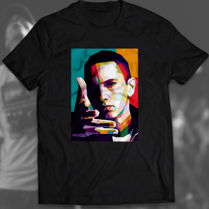 Eminem T Shirt 1 Hip Hop Rap Maglietta Marshall Slim Shady Idea Regalo Tops & Tees