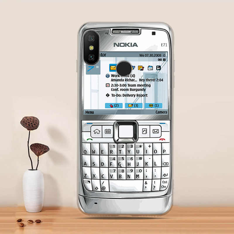 Xiaomi Mi A2 Lite Case Cover Retro Camera Cassette Tapes Calculator Soft  Phone Clear Case Fundas Redmi 6 Pro Phone Shell Capa