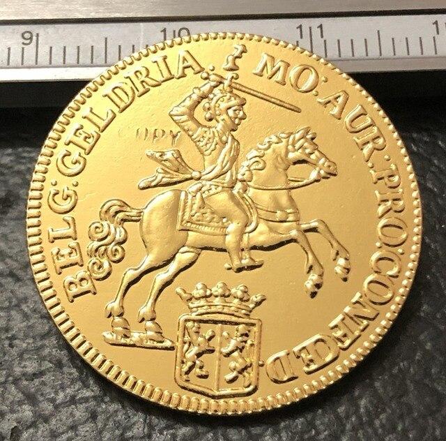 1760 Hà Lan Cộng Hòa (Gelderland) 14 Gulden-Hà Lan Vàng Sao Chép Coin