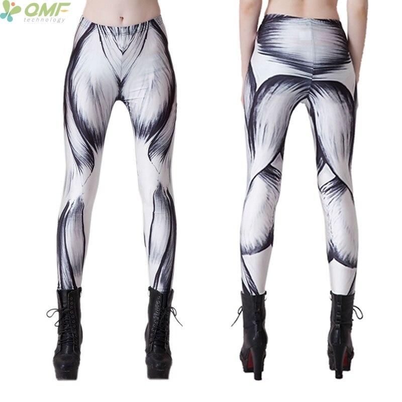 online shop human muscle print womens leggins pink fitness, Muscles