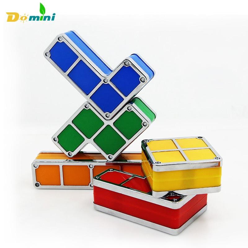 Impilabile Tetris Puzzle Luce di Notte FAI DA TE LED Desk Lamp Edificabile Blocco HA CONDOTTO LA Lampada di Lava Giocattolo Retro Game 3D light Fixtures