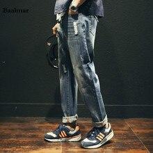 2017 новый мужчины мешковатые джинсы мужские джинсы denim hip hop брюки Случайные Свободные Джинсы Брюки Японские Шаровары Калько Джинсы Masculina