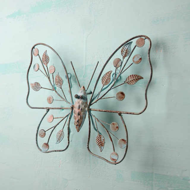 vintage pastoral iron butterfly crafts wall hanging ornament home