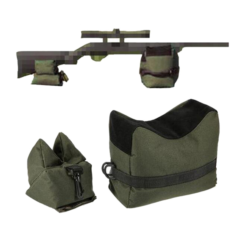 Portable Sniper Shooting Gun Rest Bag Set Front & Rear Rifle Target Bench Unfilled Stand Support Sandbag Hunting Accessories