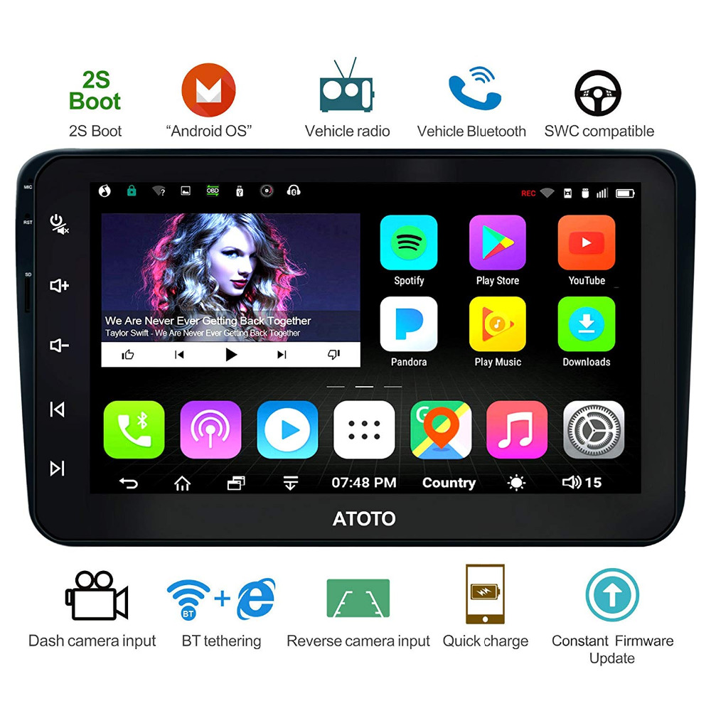 ATOTO A6 Android Car GPS Navigation Stereo/for Selected VW Volkswagen&Skoda/2*Bluetooth/Premium A6YVW821P/Auto Multimedia Radio