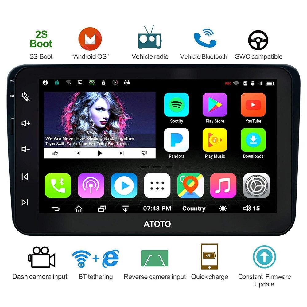 ATOTO A6 Android Voiture GPS Navigation Stéréo/pour Sélectionné VW Volkswagen et Skoda/2 * Bluetooth/Prime a6YVW821P/Auto Multimédia Radio