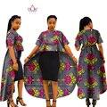 Ropa africana de vestidos para mujeres vestidos puls tamaño maxi dress mujeres ropa de diseño africano dashikis algodón wy940