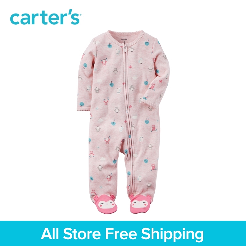 Carter's 1-peice baby kids children clothing Neon Zip-Up Sleep & Play Spring&Fall 115G397