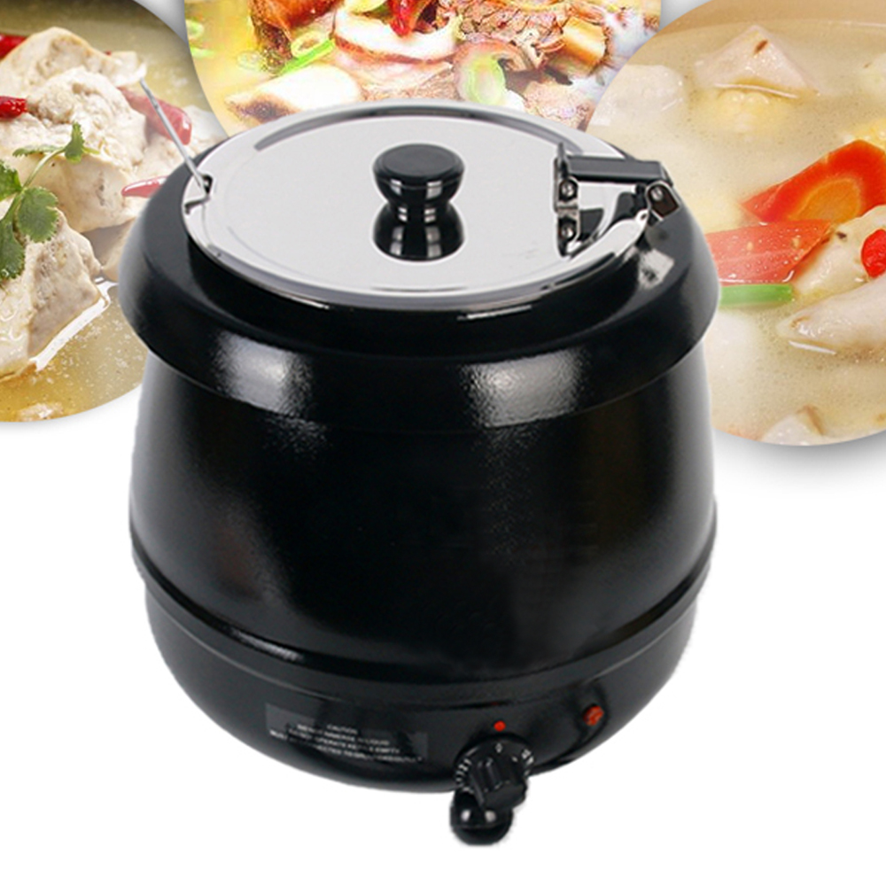 ITOP BS-W1C 10 Liter Electric Soup Kettle Pots Warmer Hinged Lid Stainless Steel Soup Pot Buffet Party Kitchen Tools тарелка soup pots 20121801 14 40cm