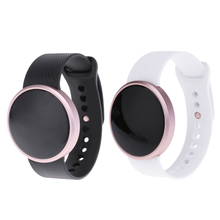 Водонепроницаемый Bluetooth Smart Браслет, сообщение напоминание шагомер fitnees трекер активности, 0.66 дюйма 120 мАч круглые часы