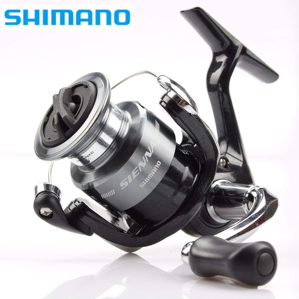 Carrete de pesca giratorio SHIMANO SIENNA agua de mar/agua dulce 1000FE/2500FE/4000FE carrete giratorio de aluminio carrete de pesca