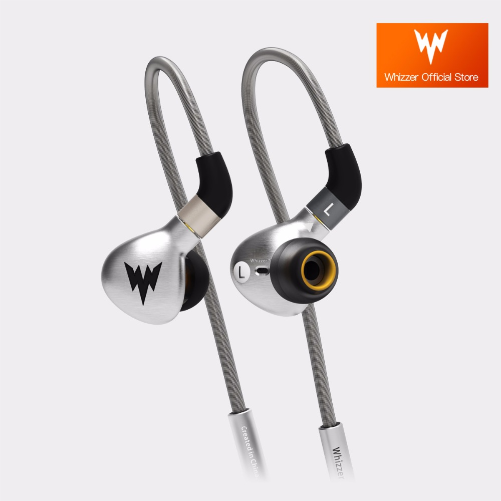 Whizzer A15 Bass Earphones Metal In Ear Headsets Dynamic HiFi Hi-res Pure Clear Warm Sound with MMCX Official Store