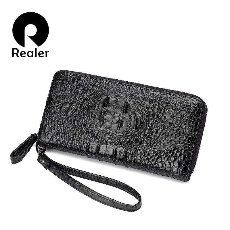 REALER Brand High Quality Women Wallets Long Artificial Leather Designer Brand Wallet Lady Fashion Clutch Casual Women Purses