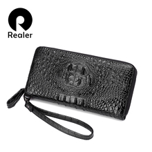 REALER Brand High Quality Women Wallets long artificial leat