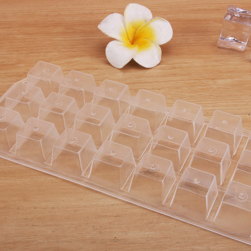 21 Grids High Quality Plastic Ice Cube Mold Square Shape Ice Cream Maker For Wine Kitchen Bar Drinking Accessories Free Shipping