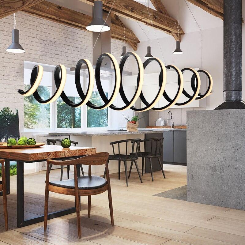 Postmodern Spiral Pendant Light