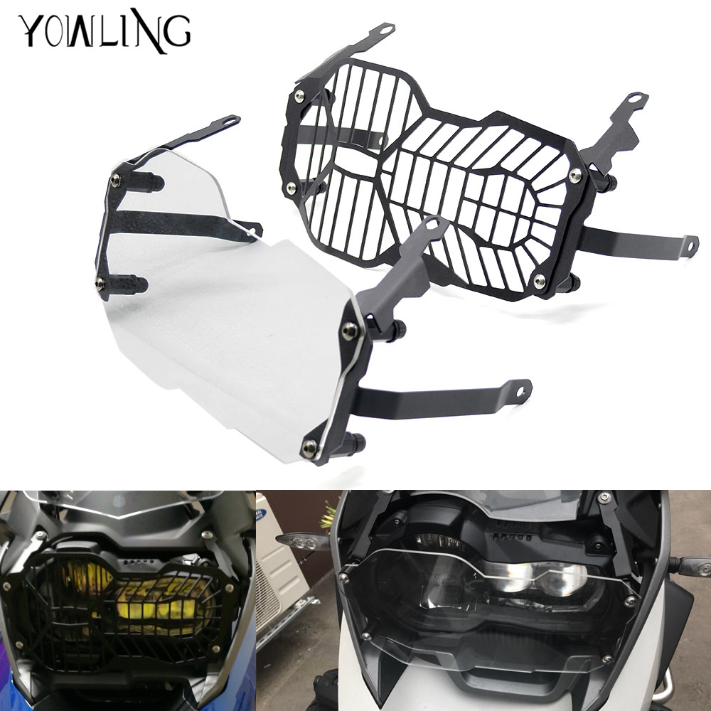 YOWLING Motorcycle For BMW R1200GS Headlight Protector Guard Lense Cover for BMW R 1200 GS Adventure 2013 2014 2015 2016 for bmw r 1200 gs headlight protector guard lense cover fit for bmw r1200gs oil cooled 2008 2009 2010 2011 2012