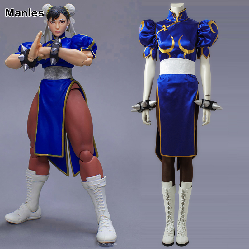 Street Fighter V Cosplay Chun-Li Costume Hot Game Outfit Fancy Dress Halloween Carnival Whole Set Female Adult Women Custom Made