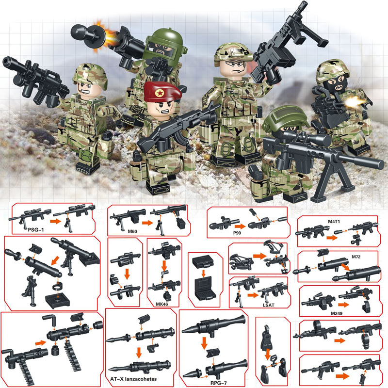 Careful Afghan Army Ww2 Russian Military Soviets Soldier Special Forces Action Figure Building Blocks Brick Toys For Kids Boys Children Model Building