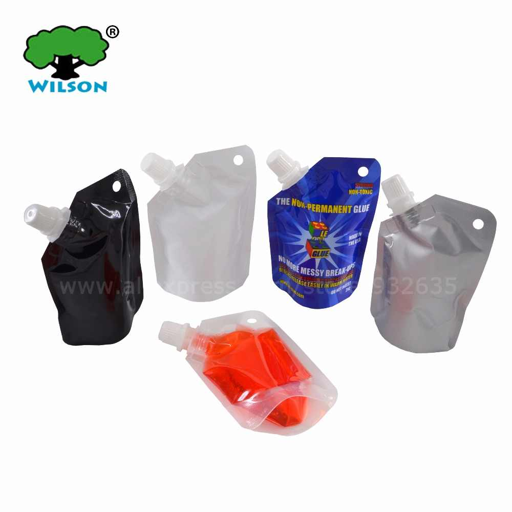 (50 ML) Small Stand Up Spout Bag 20 pcs Sauce Travel Laundry Detergent Container Bathing Dew Sauce Jelly Food Save Pouch